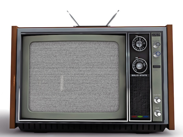 old tv retro style isolated on white background